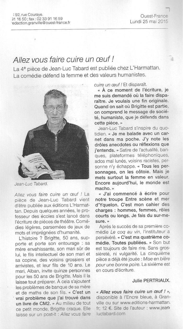 Ouest-France 25 mai 2015