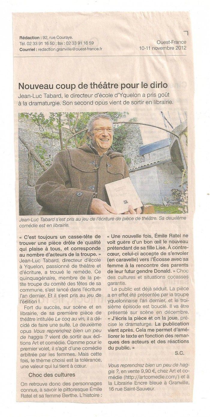 Article Ouest-France 10-11 novembre 2012